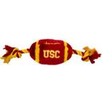 View Image 1 of USC Trojans Plush Football Dog Toy