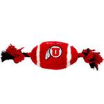 View Image 1 of Utah Utes Plush Football Dog Toy