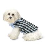 View Image 1 of Vail Checkered Dog Vest - Blue