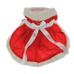View Image 3 of Velvet Santa Girl Dog Dress w/ Hat & Leash