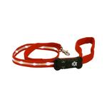 View Image 1 of Visiglo Nylon Dog Leash with White LEDs - Red
