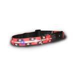 View Image 1 of Visiglo Silicone Safety Dog Collar - Paw Print