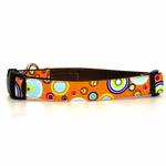 View Image 1 of WaLk-e-Woo Martini Dog Collar - Orange