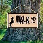 View Image 1 of Walk?!? Wood Sign