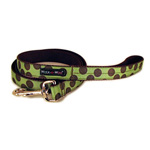 View Image 1 of WaLk-e-Woo Brown Dot on Moss Green Dog Leash
