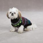 View Image 4 of Warm Hearts Dog Sweater - Black