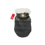 View Image 1 of Warm Snow Bunny Dog Coat by Puppia - Black