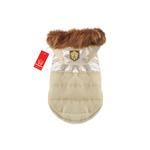 View Image 1 of Warm Snow Bunny Dog Coat by Puppia - Gold
