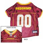 View Image 1 of Washington Redskins Officially Licensed Dog Jersey - Gold Colored Trim