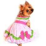 Watermelon Dog Harness Dress by Doggie Design