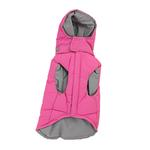 View Image 1 of Waterproof Dog Parka by Gooby - Pink/Gray