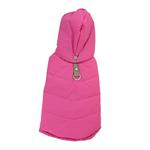 View Image 2 of Waterproof Dog Parka by Gooby - Pink/Gray