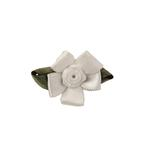 View Image 1 of Wedding Petal Flowers Dog Hair Bow - White