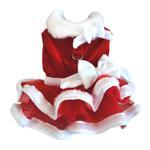 View Image 2 of White Christmas Santa Girl Dog Dress