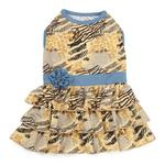 View Image 1 of Wild Savannah Tiered Dog Dress
