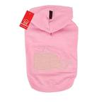 View Image 1 of Willy the Whale Hooded Dog Shirt by Puppia - Pink