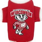 View Image 1 of Wisconsin Badgers Dog T-Shirt