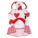 View Image 2 of Witty Dog Dress by Puppia - Red