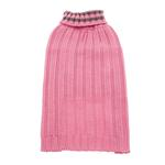 View Image 1 of Worthy Dog Ribbed Turtleneck Dog Sweater - Pink