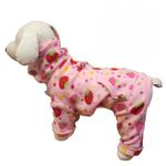 View Image 1 of Yummy Strawberry Turtleneck Fleece Dog Pajamas by Klippo