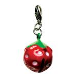View Image 2 of Yummy Strawberry Metal Jingle Bell Dog Collar Charm by Klippo