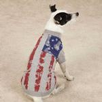 View Image 1 of Zack & Zoey America's Pup Flag Print Dog T-Shirt