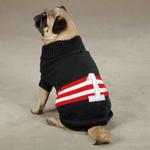 Zack & Zoey Collegiate Dog Sweater - Black