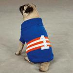 View Image 1 of Zack & Zoey Collegiate Dog Sweater - Blue