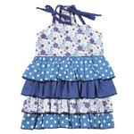 View Image 1 of Darling Daisy Tiered Dog Dress - Blue