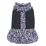 View Image 1 of Zack & Zoey Denim Floral Dog Dress