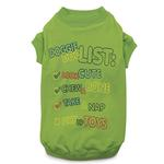 View Image 3 of Zack & Zoey Doggie Doo List Dog T-Shirt