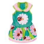 View Image 2 of Zack & Zoey Flutter Bugs Dog Dress - Lady Bug