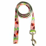 Zack & Zoey Flutter Bugs Dog Leash - Lady Bug