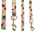 View Image 2 of Zack & Zoey Flutter Bugs Dog Leash - Lady Bug