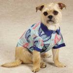 View Image 1 of Fresh Water Paisley Camp Dog Shirt