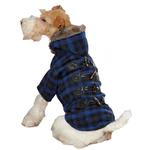 View Image 1 of Fur Tipped Toggle Dog Coat - Blue