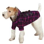 View Image 1 of Fur Tipped Toggle Dog Coat - Pink