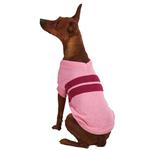View Image 1 of Zack & Zoey Ivy League Dog Sweater - Begonia Pink