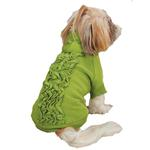 View Image 2 of Zack & Zoey Lucy Ruffle Dog Hoodie - Parrot Green