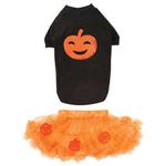View Image 3 of Pumpkin Dog Skirt Set