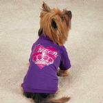 View Image 1 of Zack & Zoey Queen Pup Dog T-Shirt - Purple