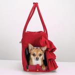 View Image 4 of Zack & Zoey Ruffle Pet Carrier - Red