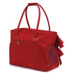 View Image 3 of Zack & Zoey Ruffle Pet Carrier - Red