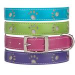 View Image 2 of Zack & Zoey Sparkle Paw Dog Collar - Parrot Green
