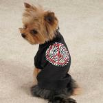 View Image 2 of Zack & Zoey Zebra Peace Sign Dog T-Shirt - Black