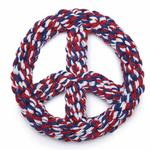 View Image 1 of Zanies Americana Rope Peace Sign Dog Toy