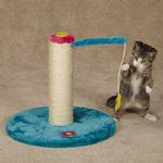 View Image 1 of Zanies Blooming Brights Cat Scratch Post