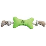 View Image 3 of Zanies Bone Tugger Toy - Blue