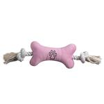 View Image 4 of Zanies Bone Tugger Toy - Blue