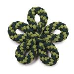 View Image 1 of Zanies Carolina Flower Rope Dog Toy - Green